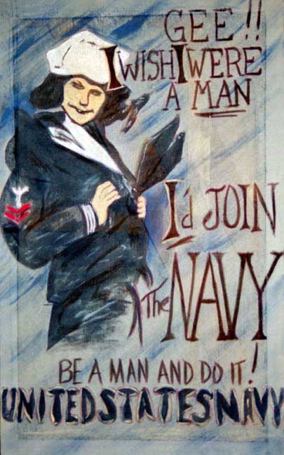 gee i wish i were a man navy poster